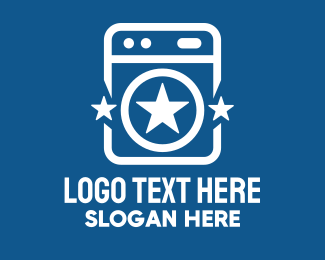 Home Appliances - Star Laundromat logo design