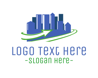 Town - City  Refresh  logo design