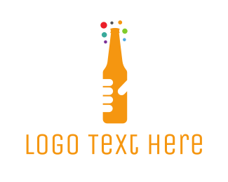 Beer Bottle - Beer Bottle Bar logo design