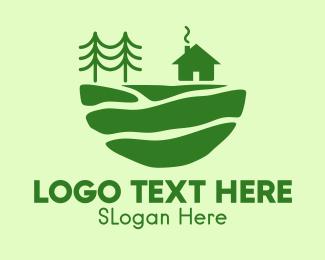 Lodge - Green Campsite Outdoor logo design