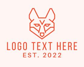 Jackal - Orange Fox Head logo design