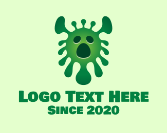 Epidemic - Green Virus Monster logo design