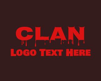 Clan - Red Blood Clan logo design
