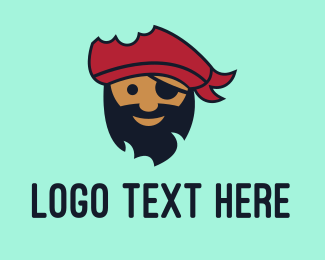 Cartoonish - Cute Pirate Head logo design