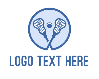 Lacrosse - Blue Lacrosse Sticks logo design
