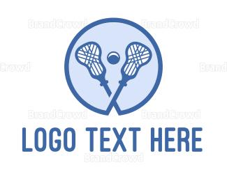 Crosse - Blue Lacrosse Sticks logo design