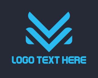 Outfit - V & M logo design