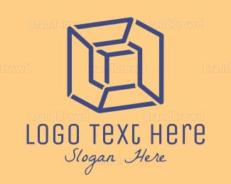 3d - Inside Box logo design