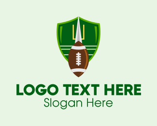 Shield - Football Goal Emblem logo design
