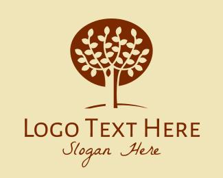 Autumn - Brown Autumn Tree logo design