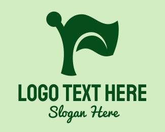 Pole - Nature Seedling Flag  logo design