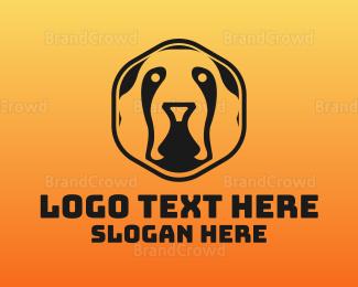 Silhouette - Hexagon Silhouette Dog logo design