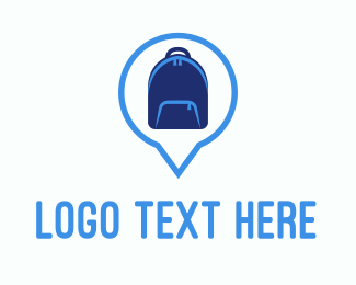 Rucksack - Blue Backpack logo design