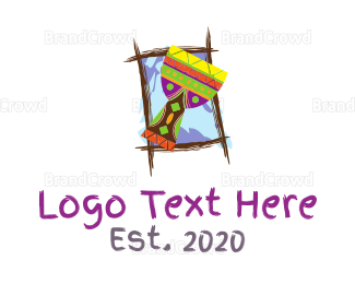Drummer - Tropical Drum logo design