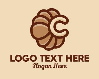 Letter C - Croissant Letter C logo design