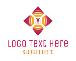 Typography - Pink Four Leaf A logo design