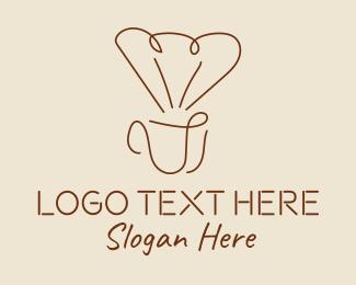 Hot Choco - Minimalist Coffee Filter logo design