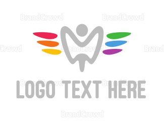 Hygiene - Colorful Tooth Angel logo design