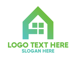 Handyman - Green A House logo design
