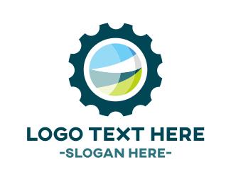 Cogwheel - Eco Gear logo design