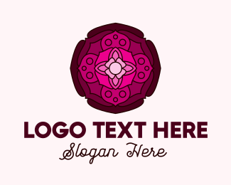 Lotus Flower - Spiritual Lotus Yoga logo design
