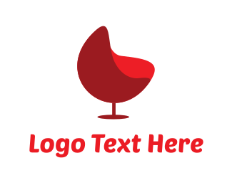 Booze - Red Wine Chair logo design