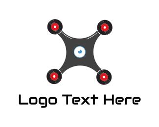 Drone - Drone Record logo design