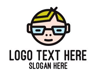 Coder - Nerd Kid Mascot logo design