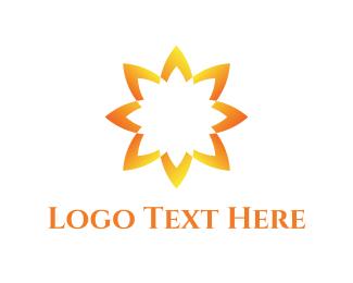 Spiritual - Yellow Sunflower  logo design