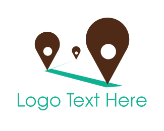 Point - Travel Location Guide logo design