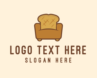 Toasted - Bread Sofa logo design