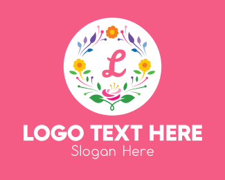 Spring - Colorful Spring Wreath Lettermark  logo design