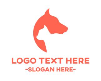 Vet - Cat & Dog logo design