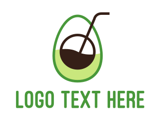 Protein Shake - Avocado Juice logo design