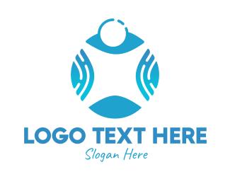 Human - Blue Human logo design