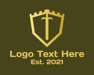 Gaming - Golden Castle Sword logo design