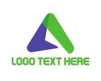 Boomerang - Boomerang Letter A logo design