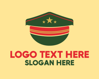Captain - Military Style Hat  logo design