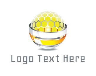 Honeybee - Honey Sphere logo design