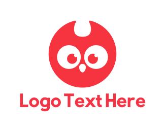 Red Bird - Red Owl logo design