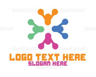 Crowdsourcing - Colorful Modern Crowd logo design
