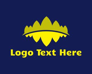 Audio - Mountain Reflection logo design