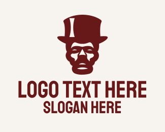 Illusion - Vintage Hat Man logo design