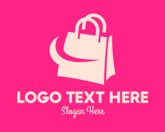 Shopify - Modern Shopping Bag logo design