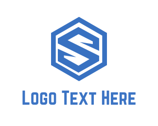 Hexagonal - Shield Letter S logo design