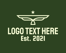 Authority - Army Star Wings logo design