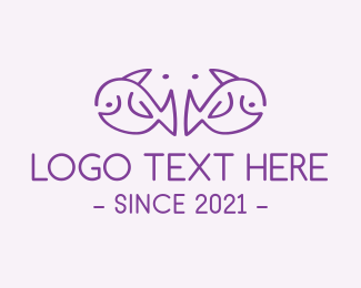 Pacific - Purple Elephant Fish logo design
