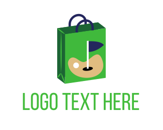 Green Flag - Golf Shopping Bag logo design