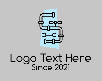 Plumbing - Minimalist Plumbing Pipe logo design