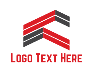Estate Agency - Abstract Rooftops logo design